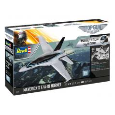 """Revell EasyClick ModelSet letadlo 64965 - Maverick's F/A-18 Hornet """"Top Gun"""" (1:72)"""