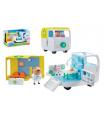 Lékařská pojízdná ordinace plast Prasátko Peppa/Peppa Pig s doplňky v krabici 38x23x21cm
