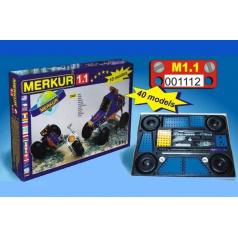 MERKUR - Stavebnice Merkur 1.1 Stavebnice vozidel, 240 dílů, 10 modelů