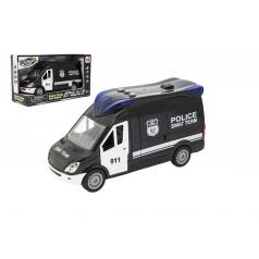 Teddies Auto policie swat plast 26cm na setrvačník na baterie se zvukem se světlem v krabici 30x17x11,5cm