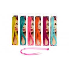 Příčesek do vlasů 50cm asst 6 barev