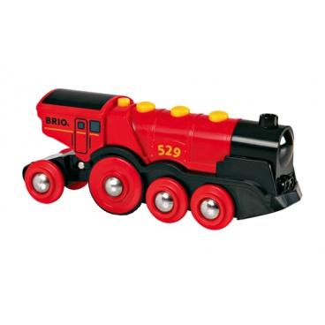 Brio 33592 Mohutná elektrická červená lokomotiva se světly