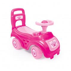 DOLU Odrážedlo auto růžové s opěradlem