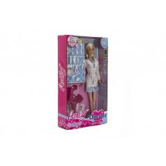 Panenka doktorka s doplňky plast 28cm v krabici 18x32x6cm