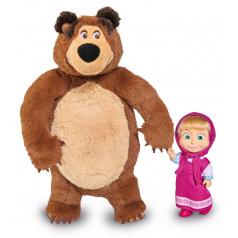 Simba Máša a Medvěd Simba Simba Máša a medveď Set Míša plyšový 25cm a bábika Máša 12cm