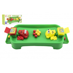 Teddies Hladové žáby plast společenská hra v krabici 36x15,5x8cm