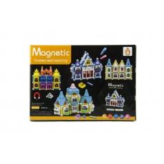 Teddies Magnetická stavebnice domeček 75ks v krabici 25x18x4cm