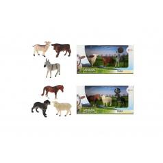 Teddies Zvířátka domácí farma 3ks asst 2 druhů v krabičce 29x15x10cm