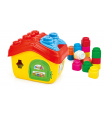Clemmy baby - Kyblík domeček s otevírací střechou a kostičkami