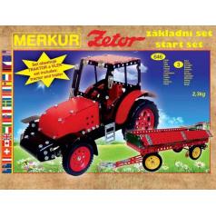 MERKUR - Stavebnice Merkur Zetor, 646 dílů
