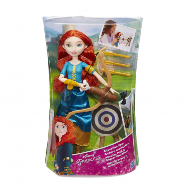 Disney Princess panenka Princezna Locika/ Merida s módními doplňky