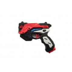 Teddies Pistole vesmírná plast 15cm na baterie se zvukem se světlem asst 2 barvy