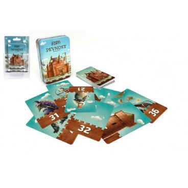 Bonaparte Pevnost Fort karetní společenská hra v plechové krabičce 7,5x11cm 6