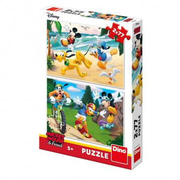 Dino Minnie Dino dětské puzle  WD Mickey sportuje 2x77D