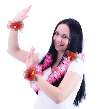 Rappa Sada Hawaii růžová - náhrdelník s náramky