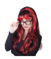 Rappa Paruka pro dospělé červenočerná čarodějnice/Halloween