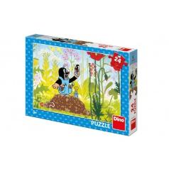 Dino Puzzle Krtek v kalhotkách 24 dílků 26x18cm v krabici 27x19x4cm