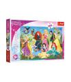 Trefl Puzzle Půvabné princezny/Disney 100 dílků 41x27,5cm v krabici 29x19x4cm