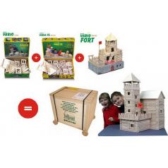 Walachia dřevěná stavebnice - Vario Box 450 dílků
