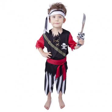 Rappa Dětský kostým Pirát s šátkem (L)