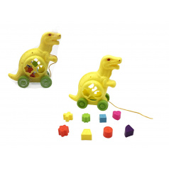 Teddies Vkládačka dinosaurus tahací plast 20x22cm v síťce