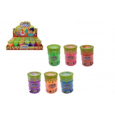 Teddies Sliz - hmota v barelu 4,5x6,5cm mix barev 24ks v boxu
