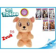 Mini Tickles plyšové zvířátko 16cm na baterie se zvukem a smějící se, 12m+, 6druhů