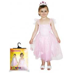 Dětský karnevalový kostým princezna růžová, vel. XS