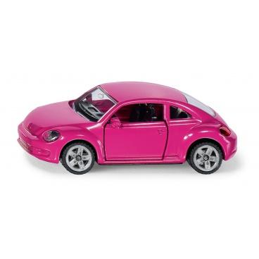 SIKU Blister - VW Beetle růžový s polepkama