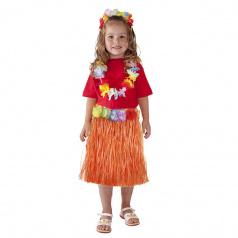 Rappa Sukně Hawaii dětská 45 cm oranžová