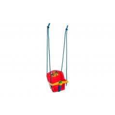 Teddies Houpačka Baby s pískátkem plast červená nosnost 20kg 35x34x35cm