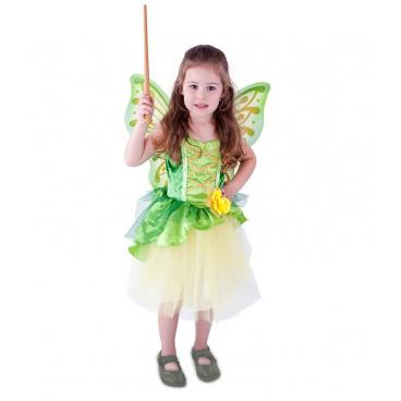 Rappa Dětský kostým víla Zelenka s křídly (S)