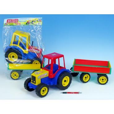 Teddies Traktor Farmer XXL s vlekem plast 69cm v sáčku