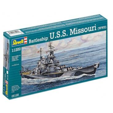 Revell Plastic ModelKit loď 05128 - Battleship U.S.S. Missouri (WWII) (1:1200)