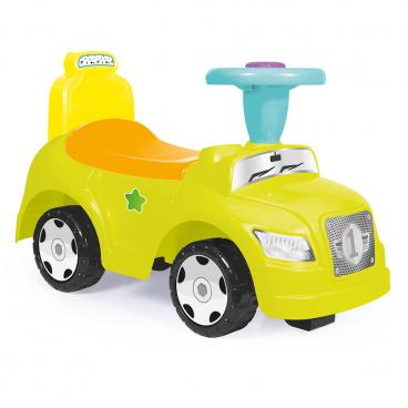 DOLU Odrážedlo auto zelené 2 v 1