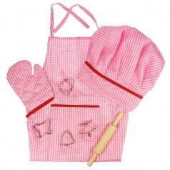 Rappa Bigjigs Toys Růžový set šéfkuchařky