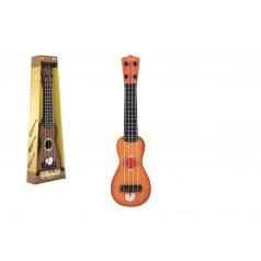 Teddies Ukulele / gitara plast 39cm s trsátka 2 farby v krabičke 12x40x5cm