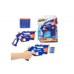 Teddies Pištoľ na penové náboje 25cm plast + náboje 6ks na karte