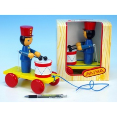 Miva Voják s bubnem tahací dřevo 20cm v krabičce 12m+