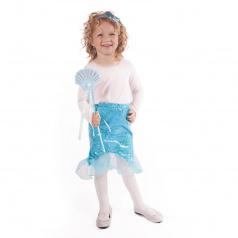 Rappa Dětská sukně mořská panna modrá