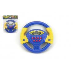 Teddies Volant modrý plast 20cm na batérie so zvukom v sáčku CZ dizajn