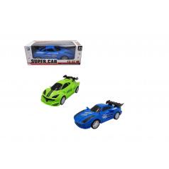Teddies Auto narážecí plast 17cm na baterie se zvukem se světlem 2 barvy v krabičce 17,5x6,5x7,5cm