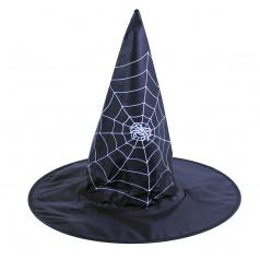 Rappa Dětský klobouk čarodějnice/Halloween s pavučinou