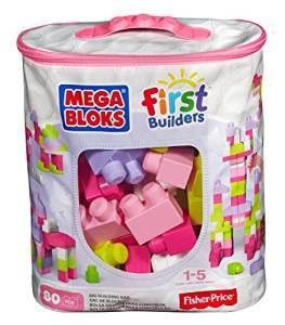 Mega Bloks First Builders PYTEL KOSTEK (80) růžový