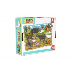 Teddies Puzzle farma domácí 640x90cm 208ks v krabici 28x24x9cm