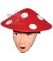 karnevalový klobouk muchomůrka filc