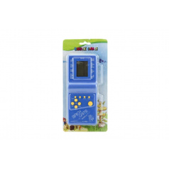 Digitálna hra Brick Game Tetris hlavolam plast 18cm na batérie asst 4 farby na karte