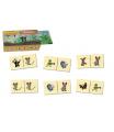 Detoa Domino Krtek dřevo společenská hra 28 dílků v dřevěné krabičce 18x11x5cm