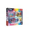 Trefl Puzzle 4v1 Trollové koncertní turné v krabici 28x28x6cm