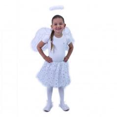 Rappa Dětský kostým tutu sukně anděl